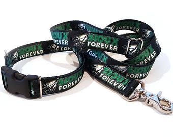 Sioux Forever Polyester Webbing Dog Collar and Leash Set