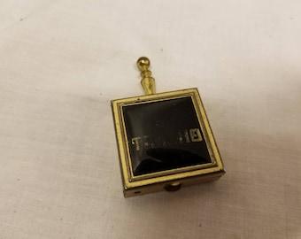 Vintage small portable ashtray Marked EL Trasho
