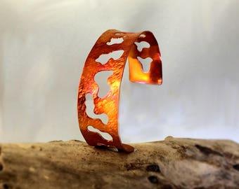 Amoeba, a copper cuff bracelet