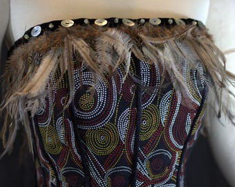 indigenous inspired cotton satin bustier