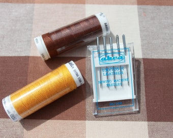 Sewing Machine Needles - Akra - Leather