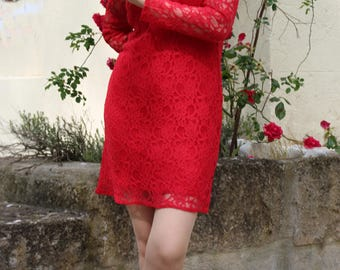 Small lace red dress