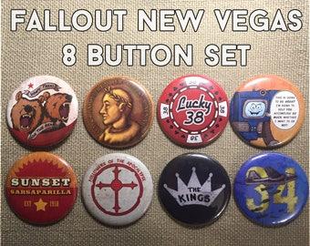 Fallout New Vegas 8 Button Set