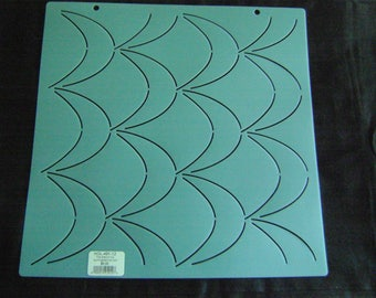 Sashiko Japanese or Traditional Quilting Stencil 12 in. Moonscape Background