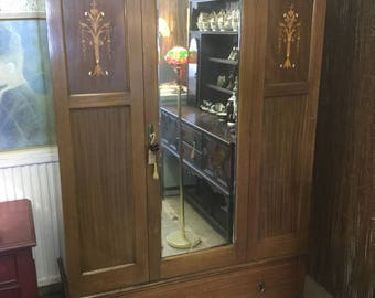 Edwardian antique wardrobe
