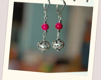 Oriental style bead earrings