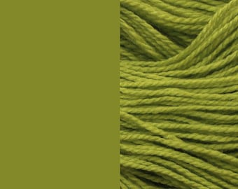 Wool, olive green | bulky, 2 ply worsted quick knit pure wool yarn 100g/130m