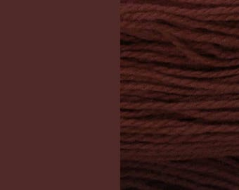Wool, brown | bulky, 2-ply worsted quick knit pure wool yarn 100g/130m
