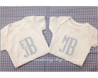 Monogrammed Baby Onesie / Baby Shower Gifts / Baby Boy / Baby Girl