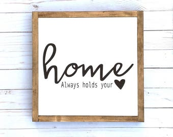 Home is Where the Heart is Art, Home Sweet Home Wood Sign, Modern Farmhouse, New Home Sign, Home Heart Sign, New Home Housewarming gift