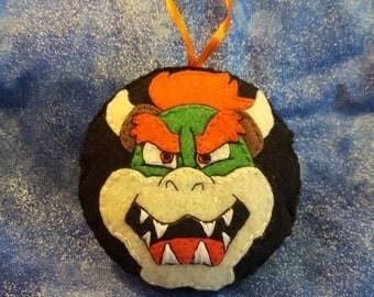 Browser- Mario inspired felt ornament