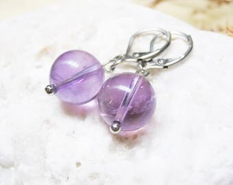 Ametrine Earrings Ametrine Jewelry Gemstone Earrings Charm Earrings Ametrine Charm Dangle Earrings Healing Crystal Spiritual Jewelry