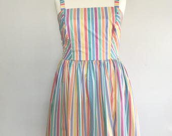 1950s Style Candy Stripe Sundress