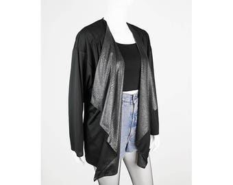 Open Cardigan with reptile-print