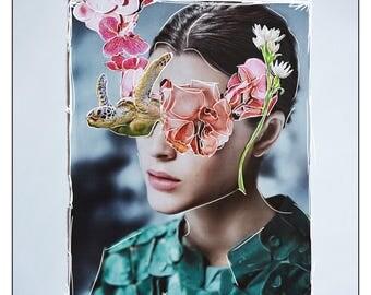 Sandra | original collage art print