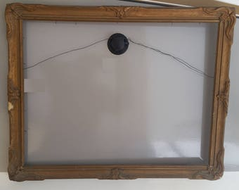 Vintage Art Nouveau Batwing Piecrust Frame, Early 20th Century