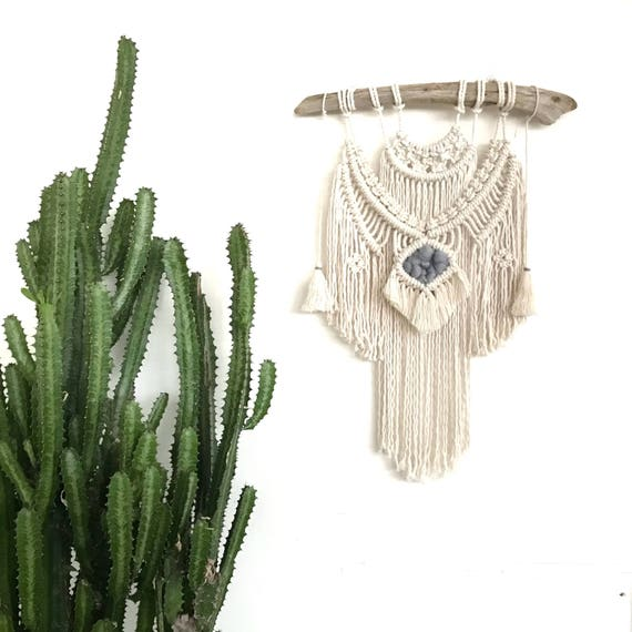 "Macrame Wall Hanging ""Moonstone"" READY TO SEND"
