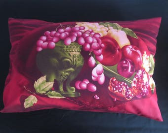 Cotton red pillowcase, designed housewife pillowcase, pure cotton sateen, red gift, gift for her