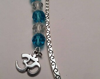 Ohm bookmark;  Yoga, meditation bookmark;  Shepherd's hook bookmark