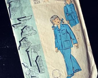 Old vintage - child Pajamas - boss model sewing pattern