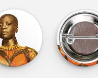 Black Panther- Okoye Pin Back Button