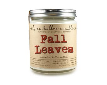 Fall Leaves | 8oz Scented Soy Candle, Fall Decor, Mason Jar Candles, Christmas candles, Winter scents, Thanksgiving gift, fall, gift ideas