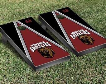 University of Montana Grizzlies Regulation Cornhole Game Set Triangle Designs