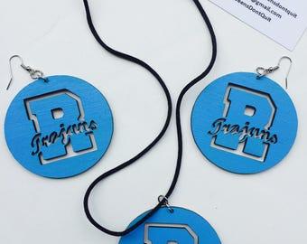 Ribault Trojan Earrings/Necklace Set