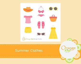 Summer Beach Outfits, Summer Clothings, Beach Clothes, Summer Sampler Stickers