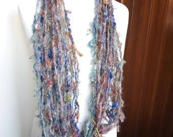 Handspun Yarn - Artyarn Corespun 2ply  Bulky Mohair Yarn. Thick-and-thin 6wpi 30 metres