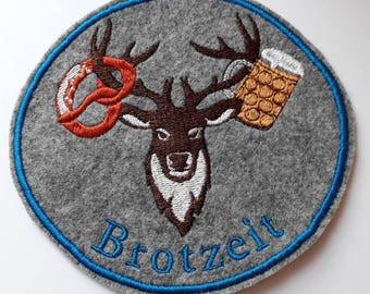 Patches Patch Ironing deer bread embroidered Bavaria.