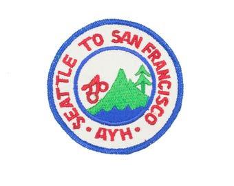 Seattle to San Francisco Vintage Patch
