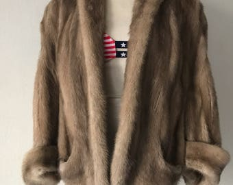 Mink fur beautiful bolero size universal .