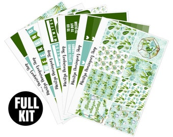 Succulents Full Weekly Kit | 153+ Planner Stickers