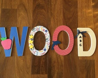 Wooden Letters - Teacher Letters - Personalized Wooden Letters - Teacher Gift