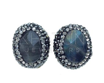 High Quality Artisan Design Bijoux Onyx GEMSTONES Stud Earrings
