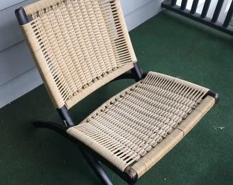 SOLD: Wegner style Folding Rope Chair