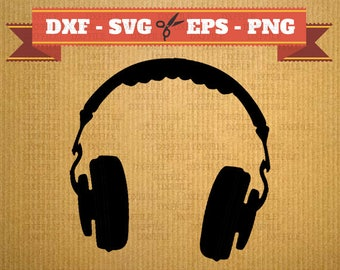 Headset SVG Files, Music svg, Png, Dfx, Eps, Headset svg, Silhoutte, Cut file for Silhouette Studio Cricut