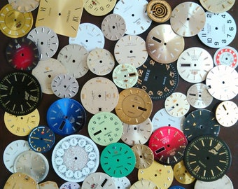 55 pcs Vintage Steampunk Wrist Watch Dials Faces Watch Parts Jewelry Making Altered Art Supply