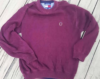 Distressed Vintage Tommy Sweater - Large