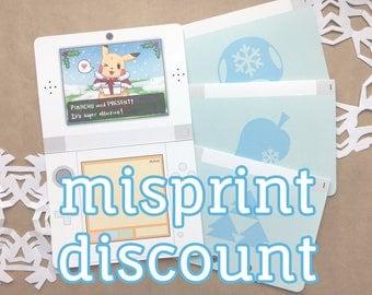 SALE: Misprinted Nintendo Christmas Card | cute christmas card, geek greeting card, gamer christmas card, gamer greeting card
