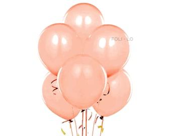 Rose Gold Balloon Set | Blush Party Balloons | Rose Gold Event Balloons | Blush Party Theme Balloons | Rose Gold Decoration | Set of 6