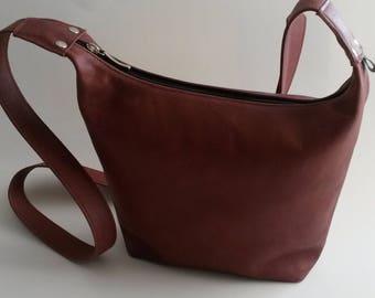 Leather Brown Red Shoulder bag
