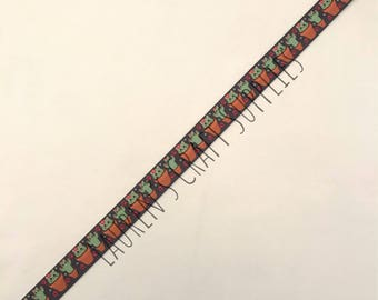 "Cactus Ribbon | Cactus Hair Bow | Succulent Ribbon | Hair Bow Ribbon | US Designer Ribbon | 7/8"" Ribbon | Grosgrain Ribbon | Cat Ribbon"