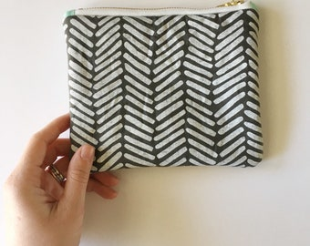 Patterned Zipper Pouch