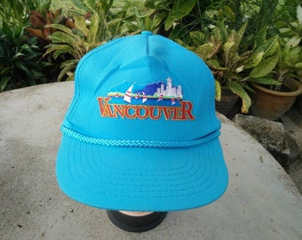 Rare Vintage VANCOUVER Patched Souvenir Cap Hat Free size fit all
