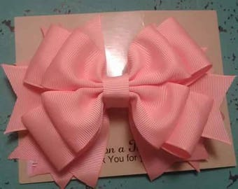 solid triple stacked hairbow