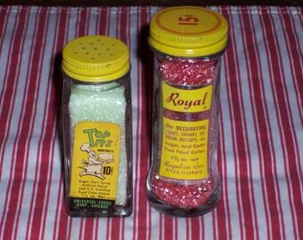 Vintage Sprinkle Jars, Cake Decors,  1950's Bottles,  Royals On Top, Top Tips, , Vintage Glass Bottle, Vintage Sprinkles, Vintage Kitchen