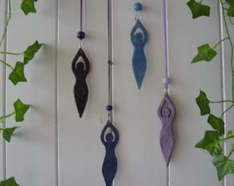 Hand Crafted Moon Goddess Wicca Wiccan Hanging Decoration