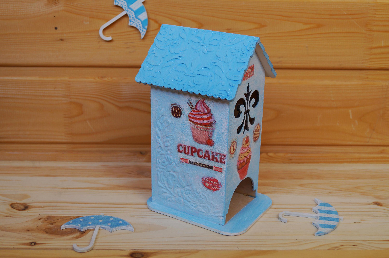 Cute kitchen set - Wooden Cutting board and Tea house Cupcake decor ...